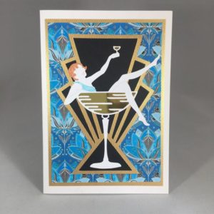 Art Deco Champagne lady