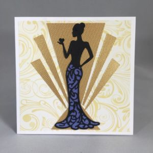 Greeting card Heart art deco
